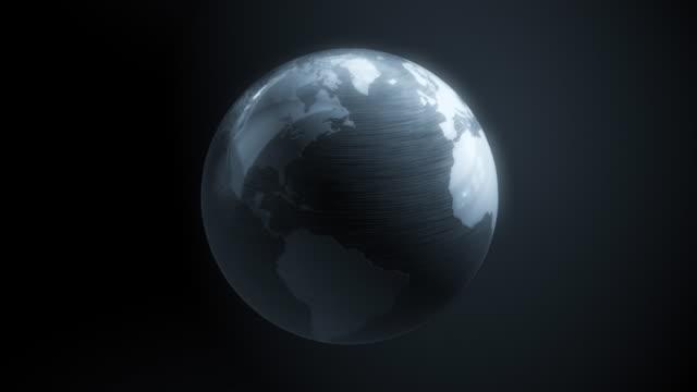 Silver Globus Weltkarte