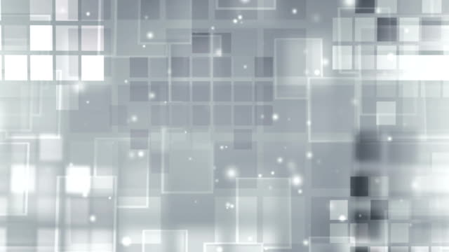 silver glowing  blocks loop with particles - block shape stock videos & royalty-free footage