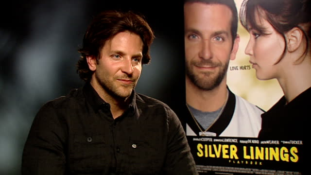 'Silver Linings Playbook' film Bradley Cooper interview ENGLAND London INT Bradley Cooper interview SOT On research he did for film mental illness