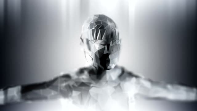 Silver loopable artificial inteligence background
