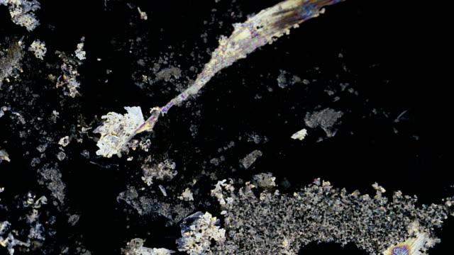 vídeos y material grabado en eventos de stock de silver nitrate crystallization under polarized microscopy - polarizador