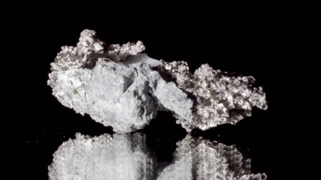 silver ore rotating on black - silver coloured stock videos & royalty-free footage