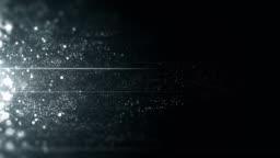 Silver / Platinum Particles Moving Horizontally - Loop