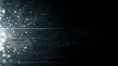 vídeos y material grabado en eventos de stock de las partículas de plata y platino movimiento horizontal - loop - fama