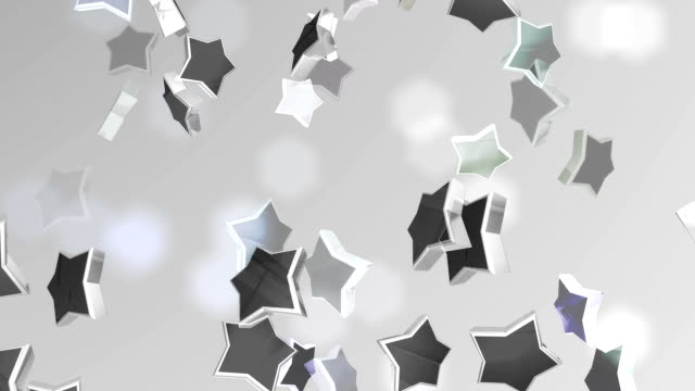 silver star background (loopable) - fame stock videos & royalty-free footage