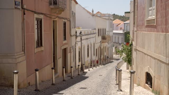 silves town street / algarve - algarve stock videos & royalty-free footage