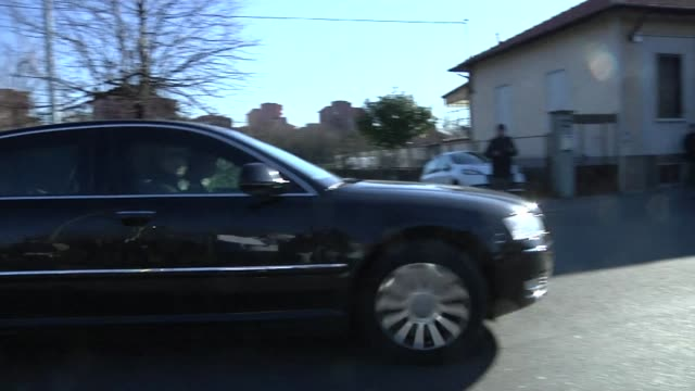 Silvio Berlusconi arrived for the last time Friday morning at the Sacra Famiglia centre near Milan where he has been carrying out community service...