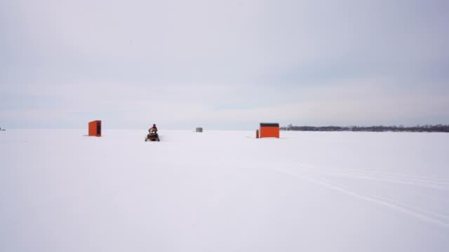 simcoe lake snowmobile ,ontario, canada . - leisure activity stock videos & royalty-free footage
