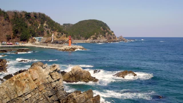 simgokhang harbor / gangneung-si, gangwon-do, south korea - riff stock-videos und b-roll-filmmaterial