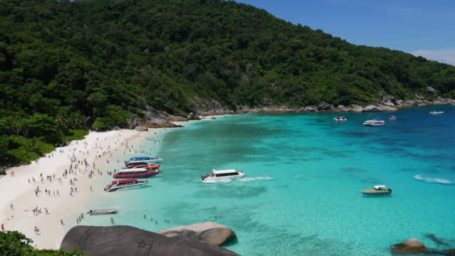 similan beach of thailand - thailand stock videos and b-roll footage