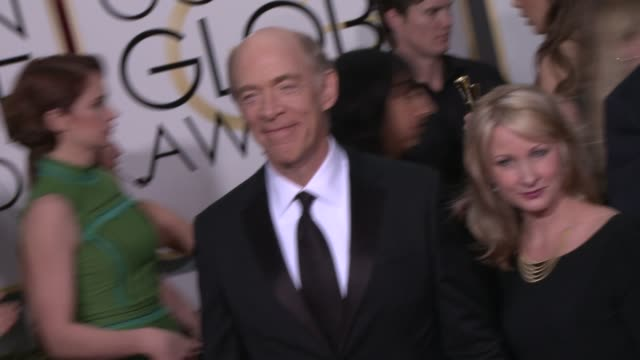 JK Simmons at the 72nd Annual Golden Globe Awards Arrivals at The Beverly Hilton Hotel on January 11 2015 in Beverly Hills California