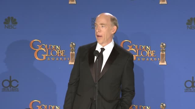 K Simmons at the 72nd Annual Golden Globe Awards Press Room at The Beverly Hilton Hotel on January 11 2015 in Beverly Hills California