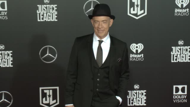jk simmons at the justice league world premiere at dolby theatre on november 13 2017 in hollywood california - the dolby theatre stock videos & royalty-free footage