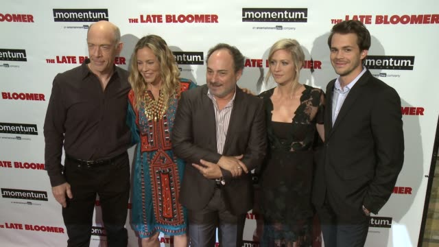 simmons, maria bello, kevin pollak, brittany snow, johnny simmons at 'the late bloomer' premiere in los angeles, ca 10/3/16 - maria bello stock videos & royalty-free footage