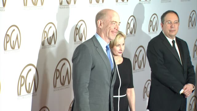vidéos et rushes de simmons, michelle schumacher at 26th annual producers guild awards in los angeles, ca 1/24/15 - producer's guild of america awards