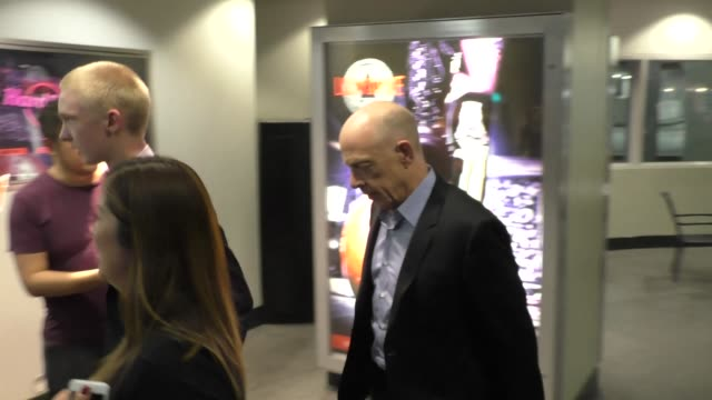 JK Simmons on his way to see movie at TCL Chinese 6 Theater in Hollywood in Celebrity Sightings in Los Angeles