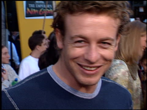 Simon Baker at the Premiere of 'The Emperor's New Groove' at the El Capitan Theatre in Hollywood California on December 10 2000