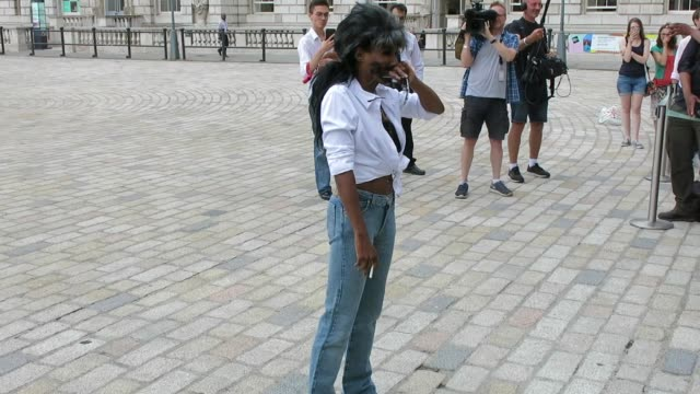 simon cowell and sinitta arrive at the x factor conference at somerset house at london celebrity sightings on july 17 2018 in london england - reality tv stock videos & royalty-free footage