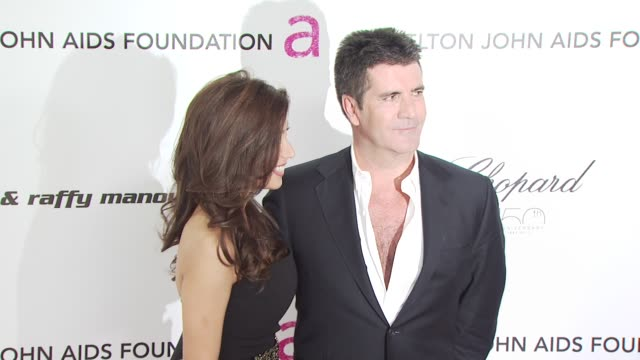 simon cowell at the 18th annual elton john aids foundation oscar party at west hollywood ca. - oscar party stock videos & royalty-free footage