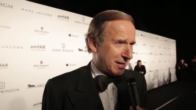 INTERVIEW Simon de Pury on amfAR at 2015 amfAR Hong Kong gala at Shaw Studios on March 14 2015 in Hong Kong