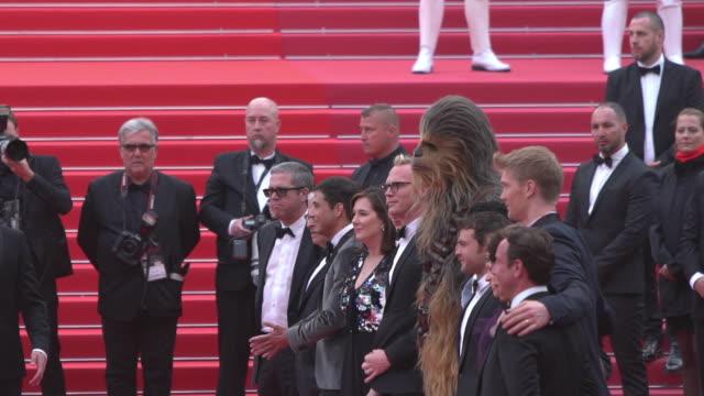 SLOMO Simon Emanuel Joonas Suotamo Thandie Newton Woody Harrelson Ron Howard Emilia Clarke Alden Ehrenreich Donald Glover Chewbacca 'Solo A Star Wars...