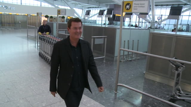 Simon Fuller the man who created the Spice Girls and other major UK acts flies out through Heathrow