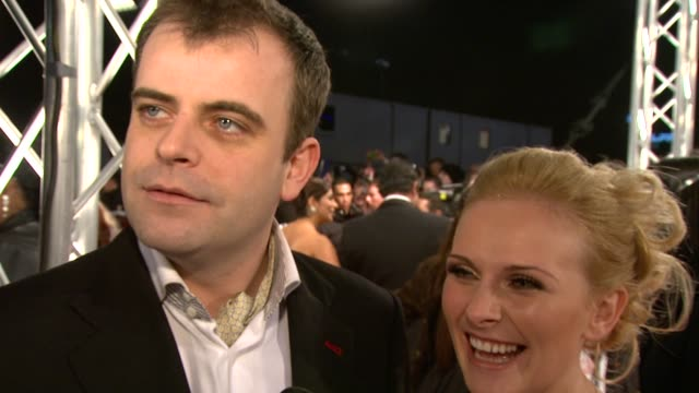 simon gregson on the battle with eastenders tonight on his and his fiancee's upcoming wedding at the national tv awards 2010 at london england - ソープオペラ点の映像素材/bロール
