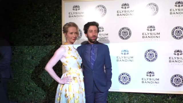 simon helberg and jocelyn towne at the art of elysium presents stevie wonder's heaven celebrating the 10th anniversary at red studios on january 07... - simon helberg stock videos and b-roll footage
