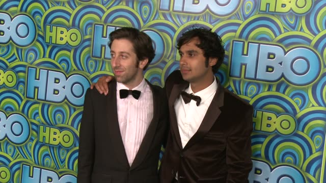 simon helberg and kunal nayyar at hbo's post 65th primetime emmy awards reception in los angeles ca on 9/22/13 - simon helberg stock videos and b-roll footage