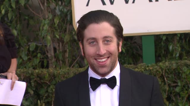 simon helberg at 70th annual golden globe awards arrivals 1/13/2013 in beverly hills ca - simon helberg stock videos and b-roll footage