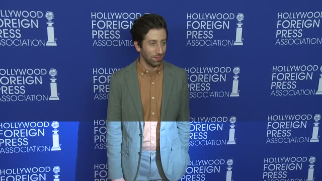 simon helberg at hollywood foreign press association's grants banquet in los angeles ca - simon helberg stock videos and b-roll footage