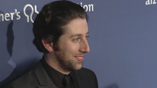 simon helberg at the 18th annual 'a night at sardi's' fundraiser and awards dinner at beverly hills ca - simon helberg stock videos and b-roll footage