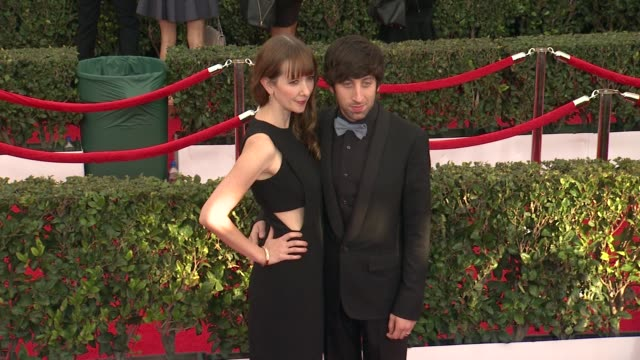 simon helberg at the 21st annual screen actors guild awards arrivals at the shrine auditorium on january 25 2015 in los angeles california - simon helberg stock videos and b-roll footage