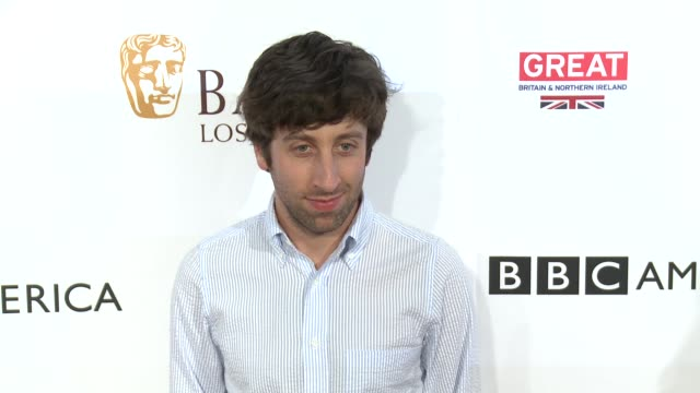 simon helberg at the bbc america bafta los angeles tv tea party 2016 at the london hotel on september 17 2016 in west hollywood california - simon helberg stock videos and b-roll footage