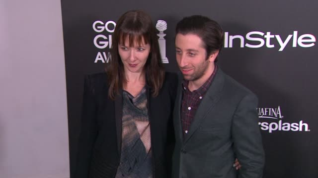 simon helberg at the hollywood foreign press association and instyle celebrate the 2014 golden globe awards season in west hollywood ca on - simon helberg stock videos and b-roll footage