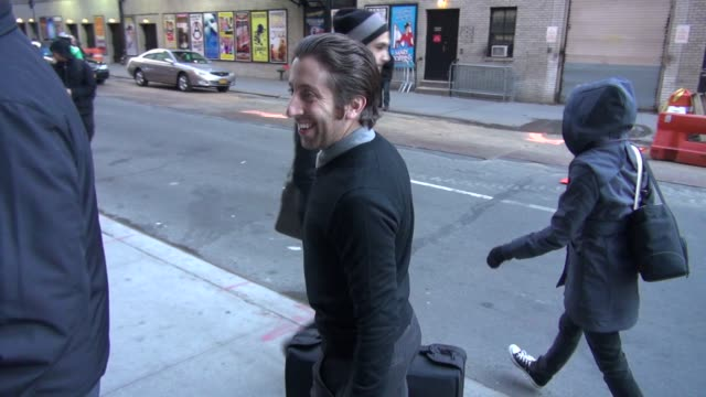 simon helberg at the 'late show with david letterman' studio in new york ny on 11/5/12 - simon helberg stock videos and b-roll footage