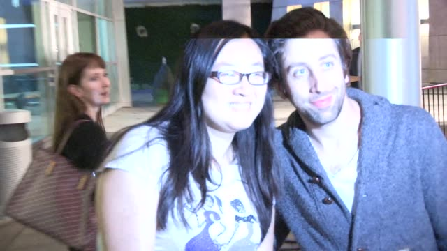 simon helberg jocelyn towne greet fans the arclight in hollywood in celebrity sightings in los angeles - simon helberg stock videos and b-roll footage