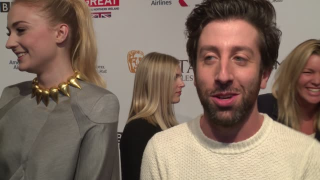 interview simon helberg jokes that he now always brings a piano with him to parties on the support for 'florence foster jenkins' on how excited he is... - simon helberg stock videos and b-roll footage