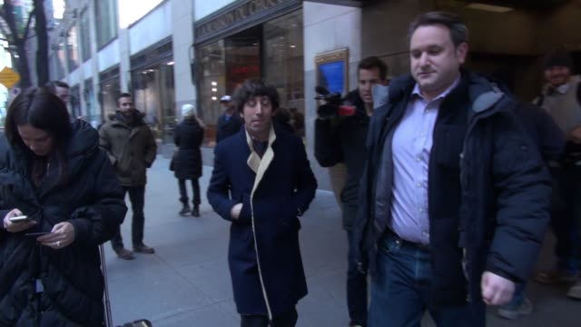 simon helberg leaves nbc studioss in celebrity sightings in new york - simon helberg stock videos and b-roll footage