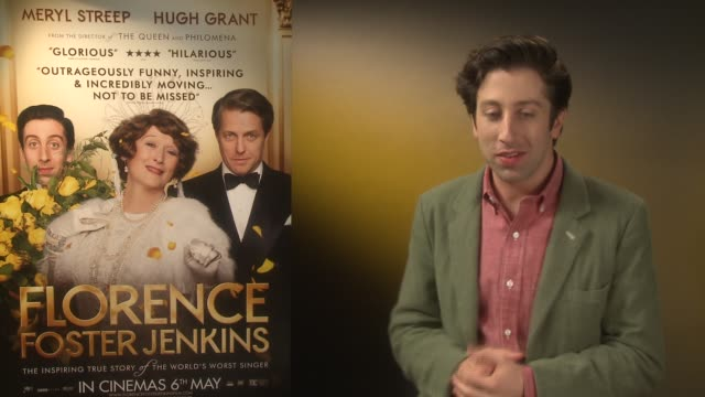 interview simon helberg on being at the premiere meryl streep being in the limelight at 'florence foster jenkins' interviews on april 25 2016 in... - simon helberg stock videos and b-roll footage