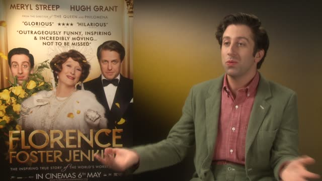 interview simon helberg on first meeting meryl streep what she was like to work with at 'florence foster jenkins' interviews on april 25 2016 in... - simon helberg stock videos and b-roll footage