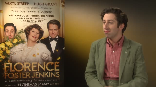 interview simon helberg on his movie career the success of 'the big bang theory' at 'florence foster jenkins' interviews on april 25 2016 in london... - simon helberg stock videos and b-roll footage