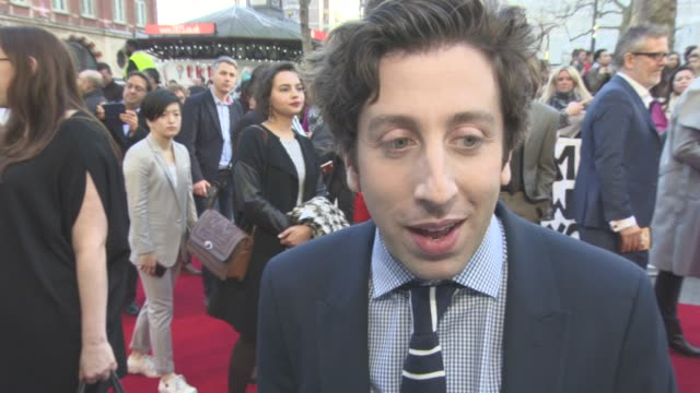 interview simon helberg on working with meryl streep the cast passion over talent reality tv hanging out with meryl streep her talent at 'florence... - simon helberg stock videos and b-roll footage