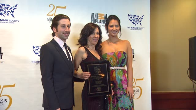 simon helberg robin singer olivia munn at the the 25th anniversary genesis awards presented by the humane society of the united states at century... - simon helberg stock videos and b-roll footage