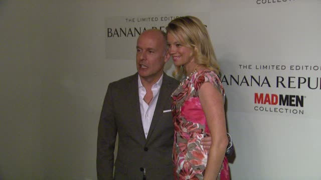 Simon Kneen Amy Smart at Spring Banana Republic Mad Men Collection Launch on 2/29/12 in Los Angeles CA
