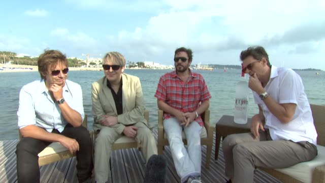 simon le bon nick rhodes john taylor roger taylor on being in cannesstories of being in cannes starting their european tour at the duran duran... - nick rhodes stock videos & royalty-free footage