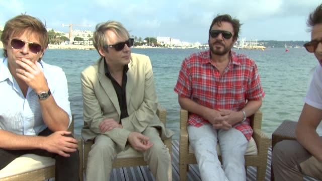 simon le bon nick rhodes john taylor roger taylor on the new album touring in the states working with david lynch at the duran duran interview 64th... - nick rhodes stock videos & royalty-free footage