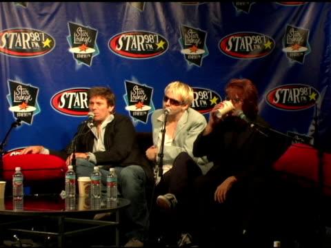 simon le bon of duran duran at the duran duran debuts of their new single at star 98.7 fm radio in burbank, california on august 19, 2004. - duran duran stock videos & royalty-free footage