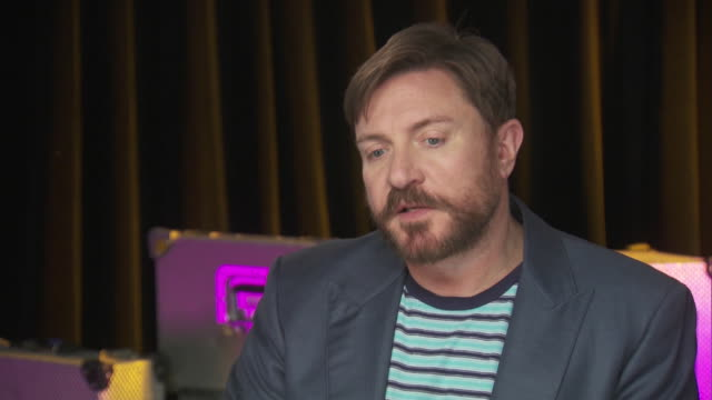 simon le bon of duran duran says that he wants his daughters to have a full and exciting life while backstage at the chime for change benefit concert... - human rights or social issues or immigration or employment and labor or protest or riot or lgbtqi rights or women's rights stock videos & royalty-free footage