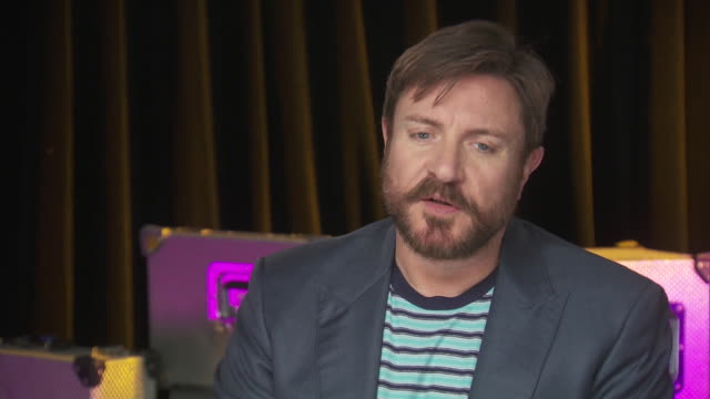 simon le bon of duran duran talks about influential women in his life, such as his mother and wife, while backstage at the chime for change benefit... - human rights or social issues or immigration or employment and labor or protest or riot or lgbtqi rights or women's rights stock videos & royalty-free footage